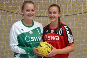 Leni Frey und Tine Königsmann verstärken Zweitliga-Handballerinnen. Bild: Herbert Vornehm   TSV Haunstetten