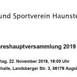 Jahreshauptversammlung TSV Haunstetten