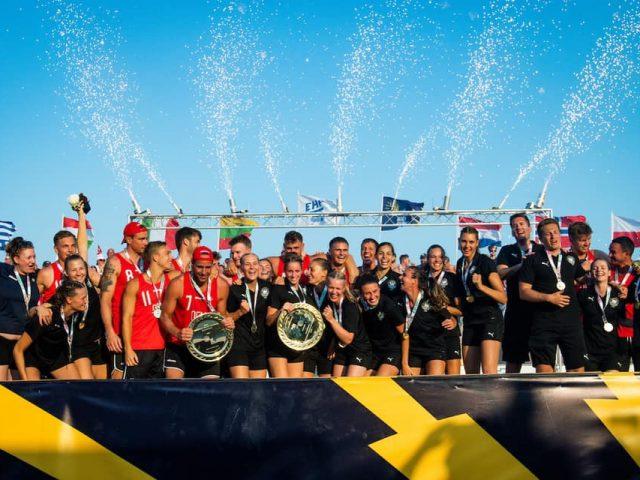 Haunstetterinnen mit deutscher Beachnationalmannschaft Europameister